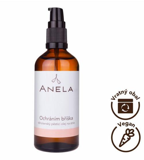 Ochráním bříška - těhotenský pěsticí olej na strie Anela