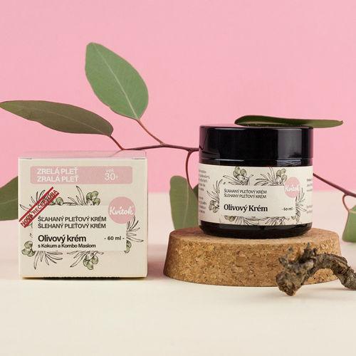 Olivový Krém s Kokum a Kombo máslem pro zralou pleť (věk 30+) Kvitok