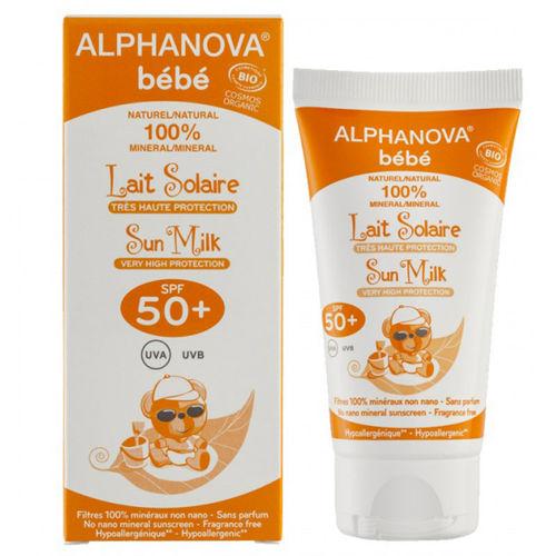 Opalovací krém pro miminka SPF 50+ Alphanova