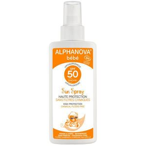 Alphanova Opalovací mléko ve spreji pro miminka SPF 50