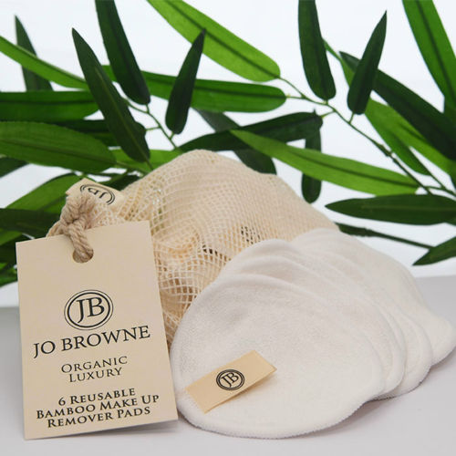 Organické bambusové odličovací tamponky pro opakované použití JO BROWNE