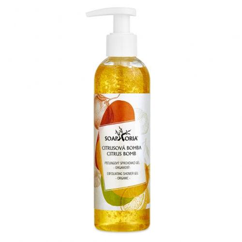 Organický peelingový sprchový gel Citrusová bomba Soaphoria