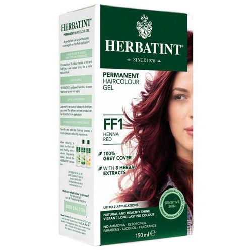 Permanentní barva na vlasy Červená henna FF1 Herbatint