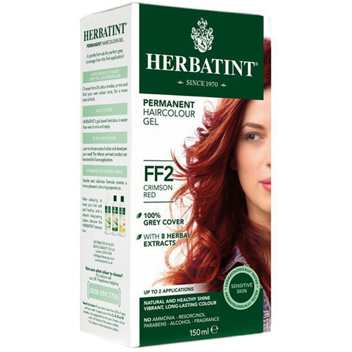 Permanentní barva na vlasy Karmínová červená FF2 Herbatint