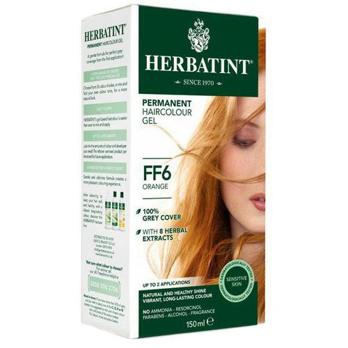 Permanentní barva na vlasy Oranžová FF6 Herbatint
