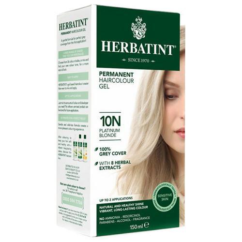 Permanentní barva na vlasy Platinová blond 10N Herbatint