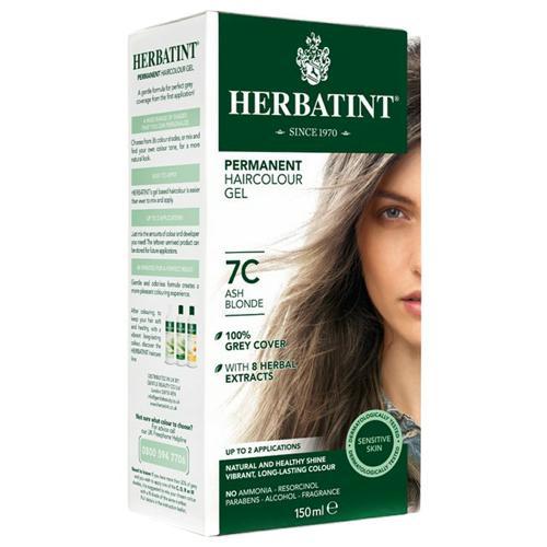 Permanentní barva na vlasy Popelavá blond 7C Herbatint