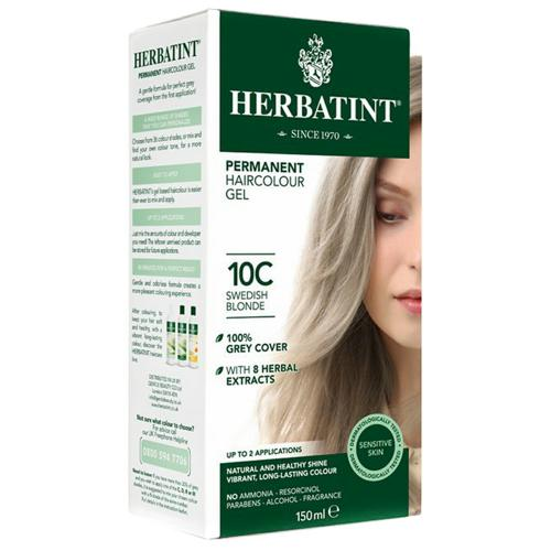 Permanentní barva na vlasy Švédská blond 10C Herbatint
