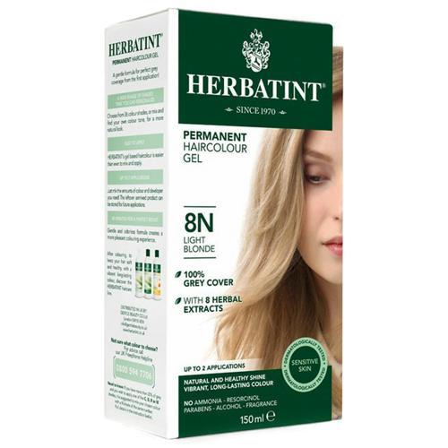 Permanentní barva na vlasy Světlá blond 8N Herbatint