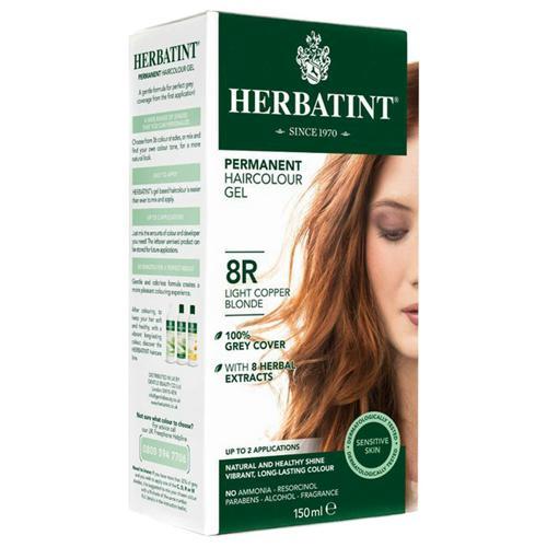 Permanentní barva na vlasy Světle měděná blond 8R Herbatint