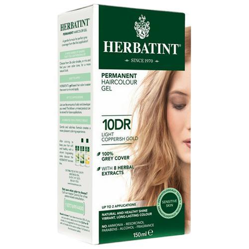 Permanentní barva na vlasy Světle měděná zlatá 10DR Herbatint