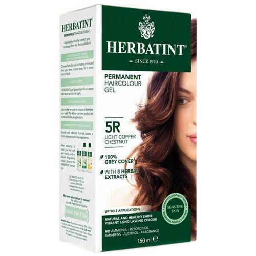 Permanentní barva na vlasy Světle měděný kaštan 5R Herbatint