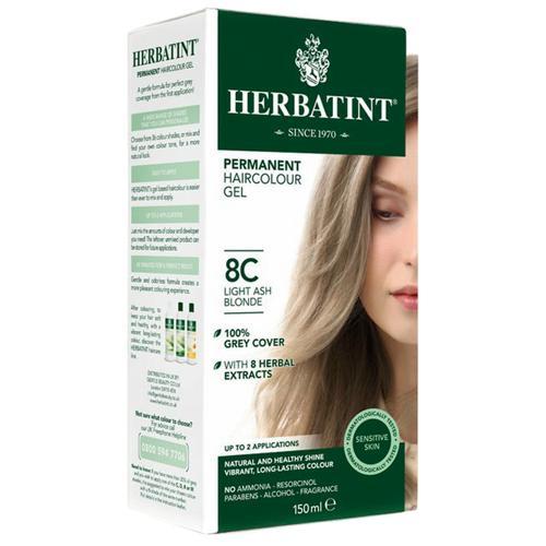 Permanentní barva na vlasy Světle popelavá blond 8C Herbatint