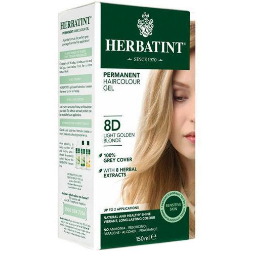 Permanentní barva na vlasy Světle zlatavá blond 8D Herbatint