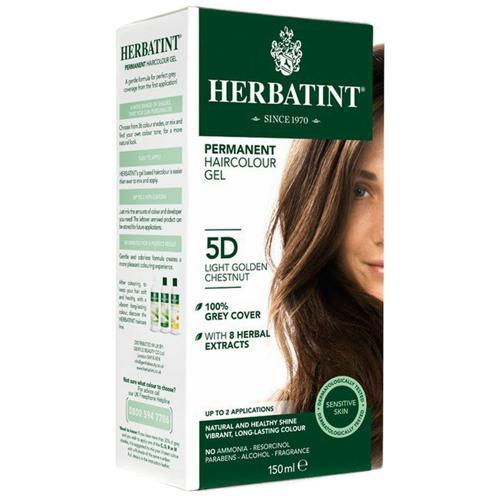 Permanentní barva na vlasy Světle zlatavý kaštan 5D Herbatint
