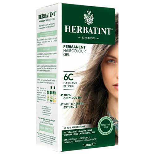 Permanentní barva na vlasy Tmavá popelavá blond 6C Herbatint