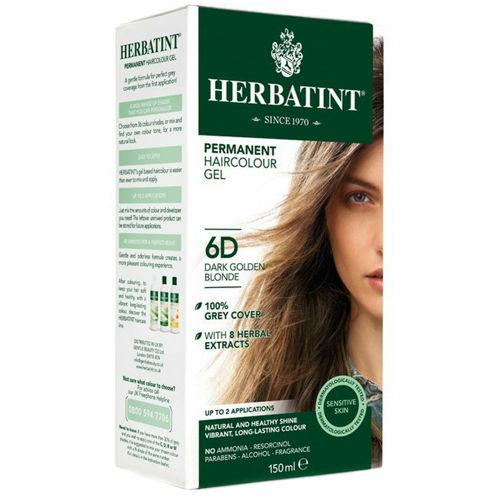 Permanentní barva na vlasy Tmavá zlatavá blond 6D Herbatint