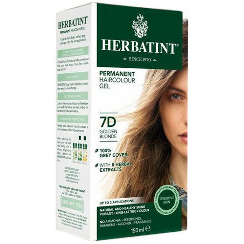 Permanentní barva na vlasy Zlatavá blond 7D Herbatint
