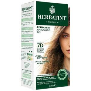 Herbatint Permanentní barva na vlasy Zlatavá blond 7D