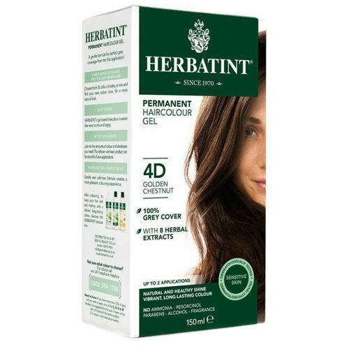Permanentní barva na vlasy Zlatavý kaštan 4D Herbatint