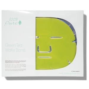 100% Pure Pleťová hydratační maska Zelený čaj 5 ks