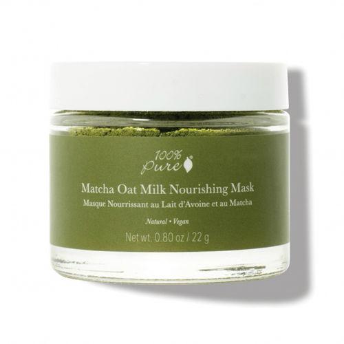 Pleťová prášková výživná maska Matcha a ovesné mléko  100% Pure