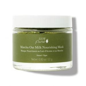 100% Pure Pleťová prášková výživná maska Matcha a ovesné mléko
