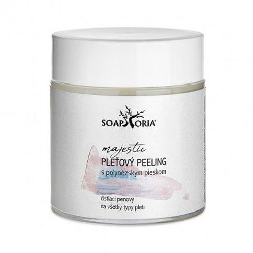 Pleťový peeling s růžovým polynéským pískem Soaphoria