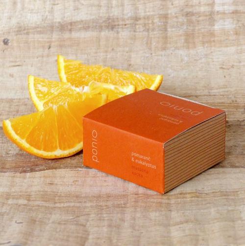 Masážní kostka Pomeranč a Eukalyptus Ponio