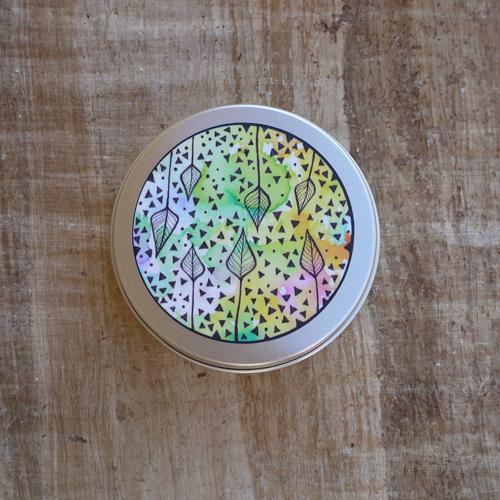 Přenoska - nižší hliníková plechovka, barevné listy Ponio