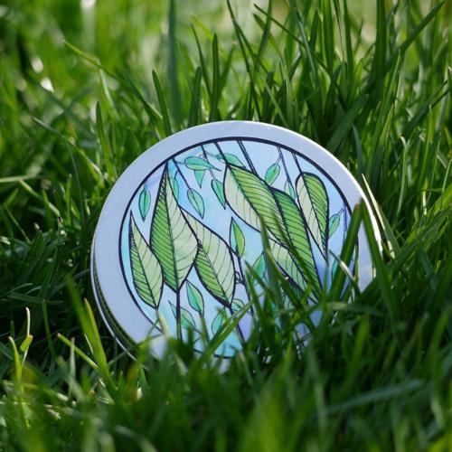 Přenoska - vyšší hliníková plechovka, zelené lístky Ponio