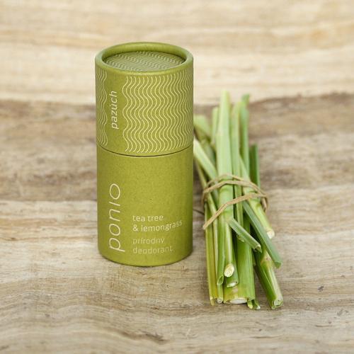 Přírodní deodorant Tea tree a citrónová tráva Ponio