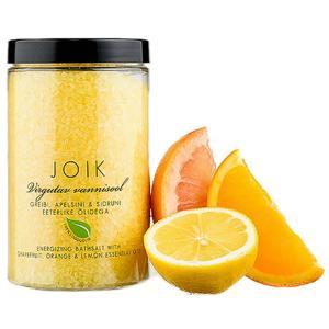 Joik Povznášející koupelová sůl s olejem z citronu, pomeranče a grapefruitu