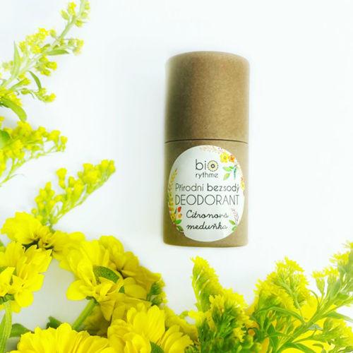 Přírodní bezsodý deodorant Citronová meduňka - papírový obal Biorythme
