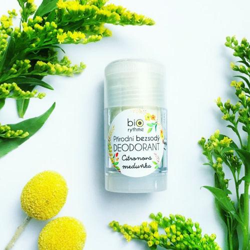 Přírodní bezsodý deodorant Citronová meduňka (velký) Biorythme