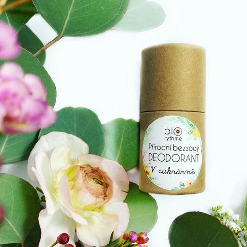 Přírodní bezsodý deodorant V cukrárně (papírový obal) Biorythme