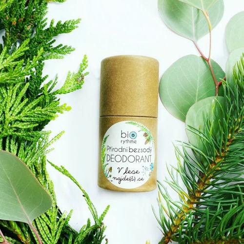 Přírodní bezsodý deodorant V lese najde(š) se - papírový obal Biorythme