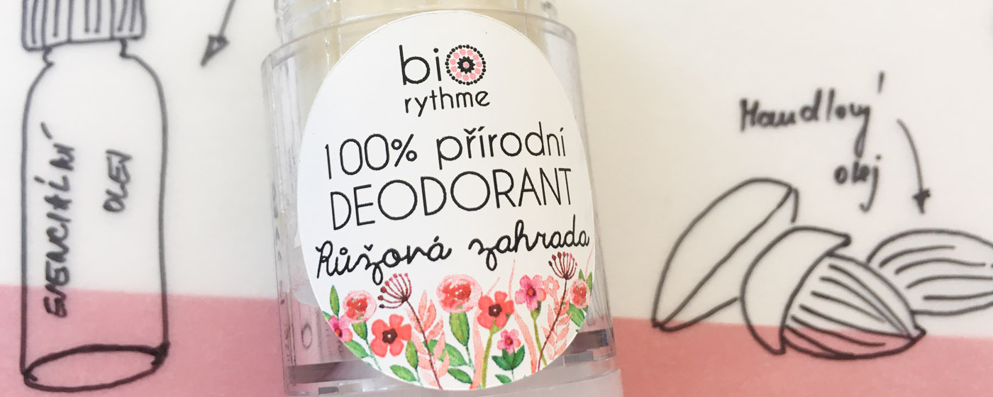 Přírodní deodorant Růžová zahrada od Biorythme