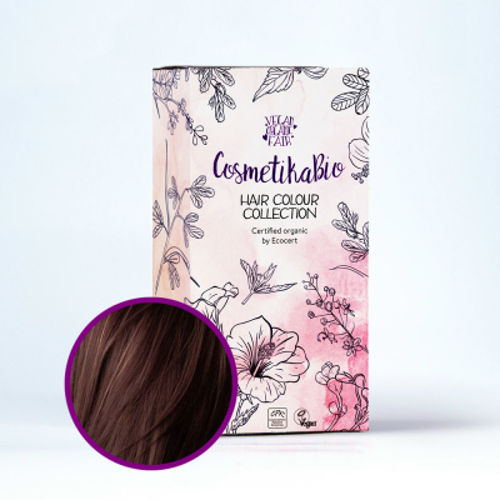 Přírodní hennová barva na vlasy tmavě hnědá | Dark Brown Cosmetikabio