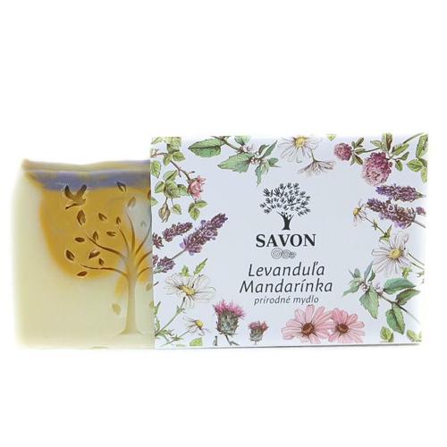 Přírodní mýdlo Levandule Mandarinka Savon