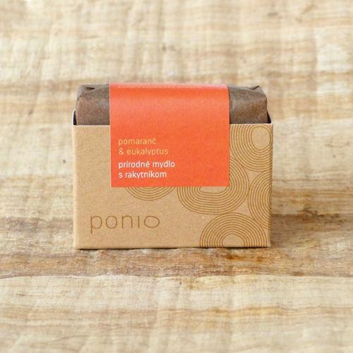 PONIO přírodní mýdlo Pomeranč & eukalyptus s rakytníkem Ponio
