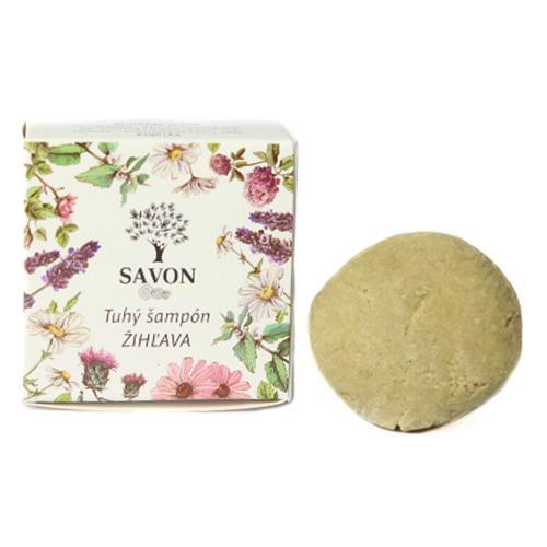 Přírodní tuhý šampon Kopřiva 25 g - papírová krabička Savon