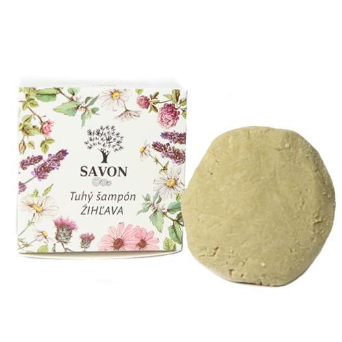 Přírodní tuhý šampon Kopřiva 60 g - papírová krabička Savon