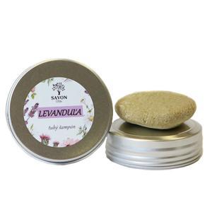 Savon Přírodní tuhý šampon Levandule 25 g - hliníková přenoska