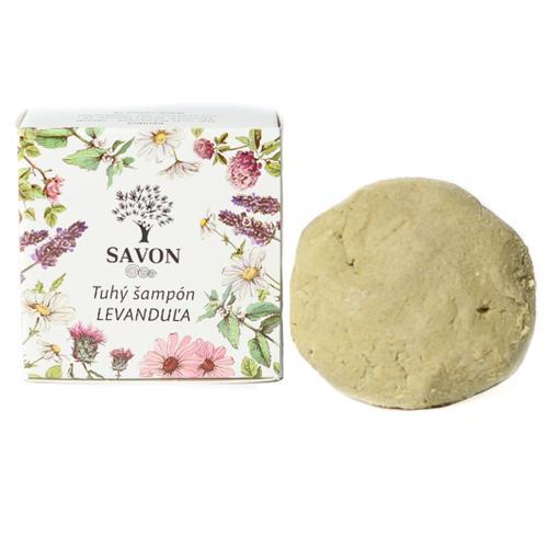 Přírodní tuhý šampon Levandule 60 g - papírová krabička Savon