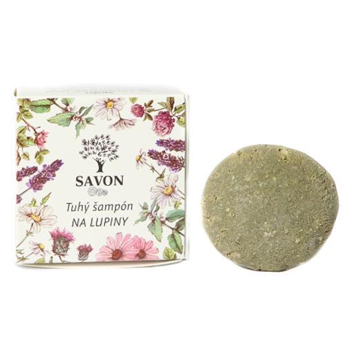 Přírodní tuhý šampon Lupy 25 g - papírová krabička Savon