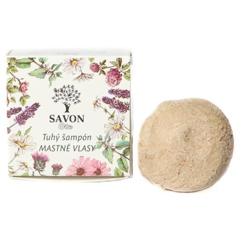 Přírodní tuhý šampon Mastné vlasy 25 g - papírová krabička Savon