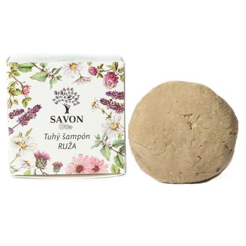 Přírodní tuhý šampon Růže 60 g - papírová krabička Savon
