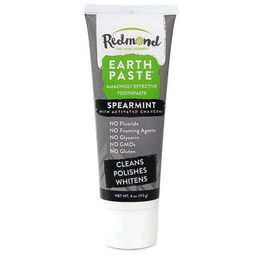 Přírodní zubní pasta s bentonitovým jílem, aktivním uhlím a mátou kadeřavou Redmond