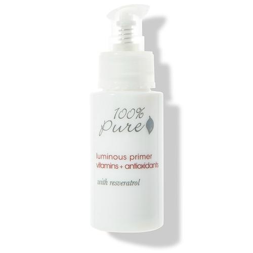 Rozjasňující báze pod make-up s vitamíny, antioxidanty a resveratrolem 100% Pure